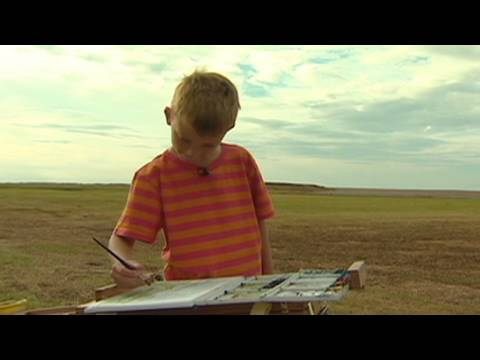 7-year-old artist a 'mini Monet'