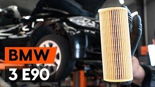 Hvordan udskiftes oljefilter og motorolje on BMW 3 (E90) [GUIDE AUTODOC]