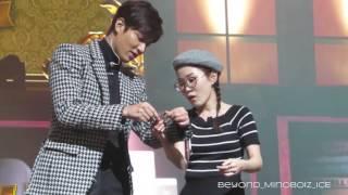 20160116【Minoz World in Seoul】Lee Min Ho's warm fan service❤