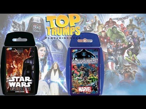Top Trumps Marvel & Star Wars Card Games