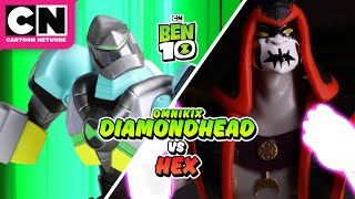 Ben 10 vs. Hex Stop Motion | Ben 10 | Cartoon Network