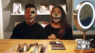 HALF SKULL HALLOWEEN MAKEUP | CYEXQUISITE
