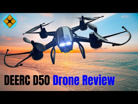 Deerc D50 Drone Review | Flight, Footage, Night Flight, Pros and Cons