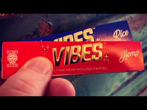 Review of Vibes King size Rice And Hemp Papers