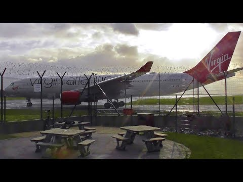 Virgin Atlantic's FIRST AIRBUS A330-200 Departing Manchester Airport!
