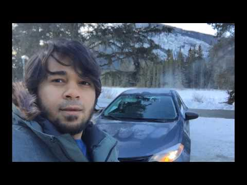 Drive from Edmonton, Alberta to Vancouver, British Columbia in winter