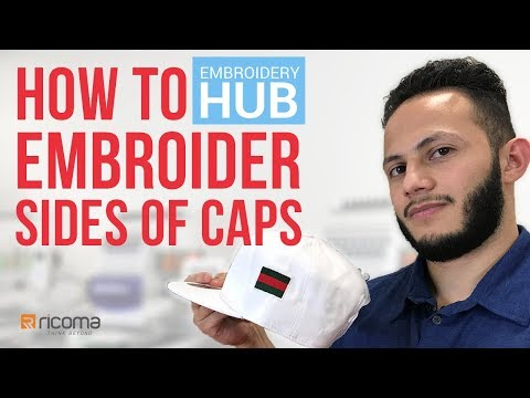 Embroidery Hub Ep  11: How to Embroider Side of Hat | Hat Embroidery