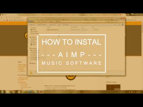 How to Instal AIMP music software