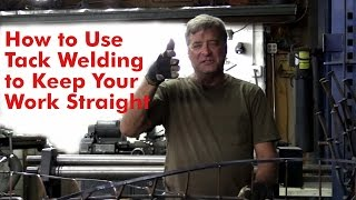 How to Use Tack Welding to Keep Your Work Straight - Kevin Caron(From http://www.kevincaron.com - Sculptor Kevin Caron uses a new sound sculpture to explain how to adjust your work as you create .... Caron is making a ..., 2015-06-03T16:25:14.000Z)