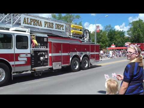 4th Of July Parade Alpena Michigan 2017. Events in My Town!!!