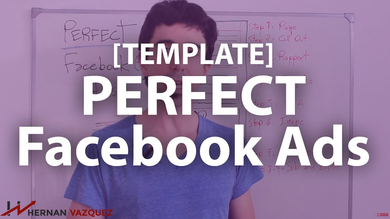 TUTORIAL How To Create The PERFECT Facebook Ad Template Hernan - Facebook ad template