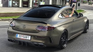 STRAIGHT PIPED MERCEDES C63S AMG - LOUD REVS I BRUTAL SOUND!