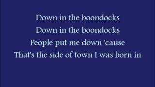 Down in the Boondocks by Billy Joel Royal w/ lyrics