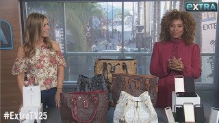 'Extra's' Pop-Up Shop: Nonsurgical Neck-Lifts, Handbags, and Battery Cases