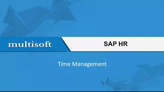 The sap hr time management video tutorial throw light on various aspects of module like those defining public holidays, handling...