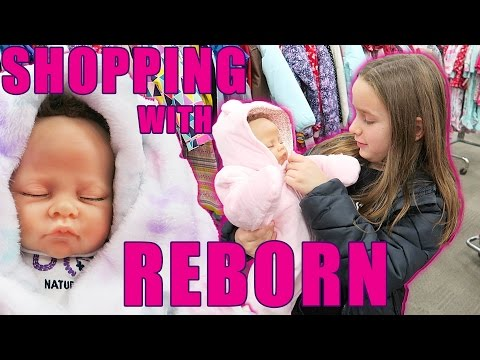 Shopping for Reborn Baby Doll Clothes Sophia Gets a New Outfit
