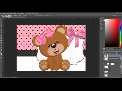 Convite da ursinha Photoshop ao vivo