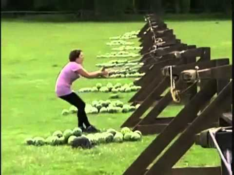girl hit in face with watermelon
