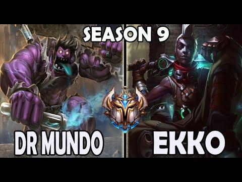 Dr. Mundo vs Ekko JUNGLE Rank #11 Challenger NA