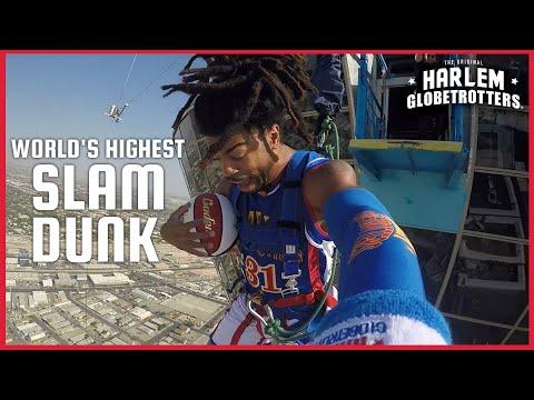 World's Highest Slam Dunk   Harlem Globetrotters