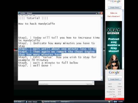 how to hack time in HandyCaffe toturial