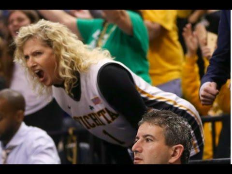 SHOCKING! Wichita State Coach, Gregg Marshall's wife, disruptive during WSU - UK NCAA game