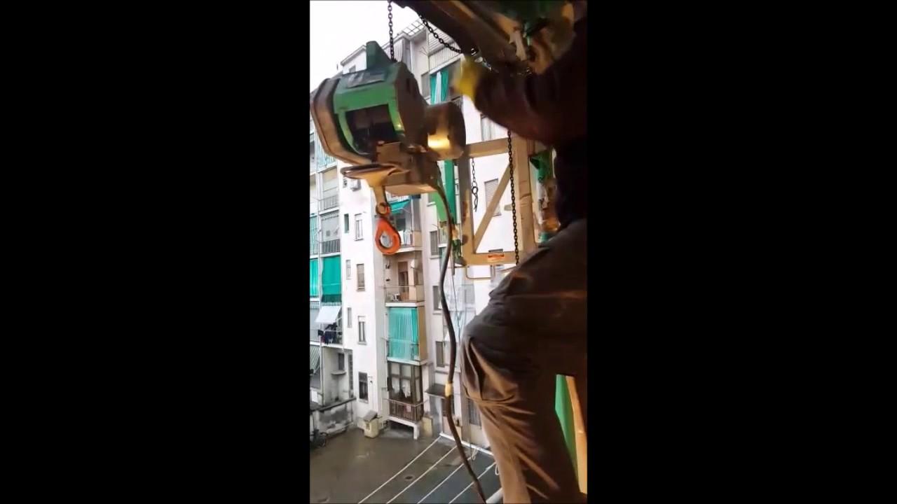 Montaggio Montacarichi Su Palo Senza Fatica Youtube