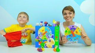 Развивающее Лото для детей Djeco Ферма - Даник и Мама Носики Курносики