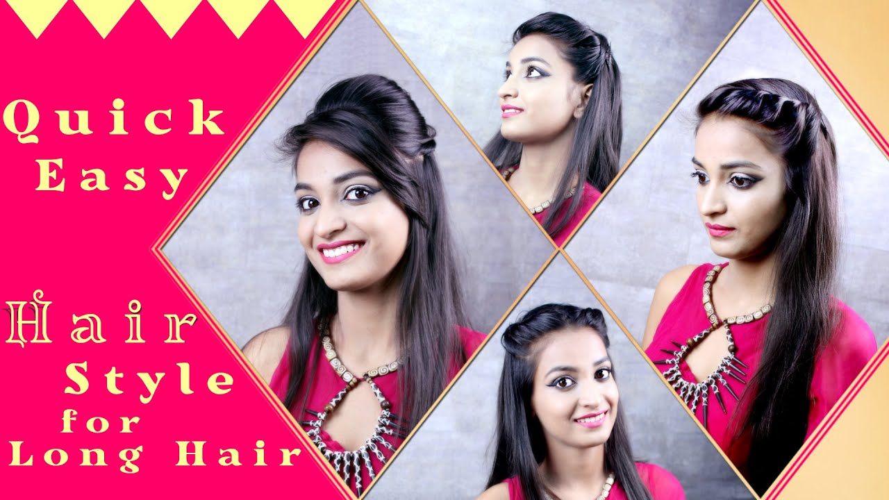 Hairstyles for long hair quick and easy diy khoobsurati hairstyles for long hair quick and easy diy khoobsurati youtube solutioingenieria Image collections