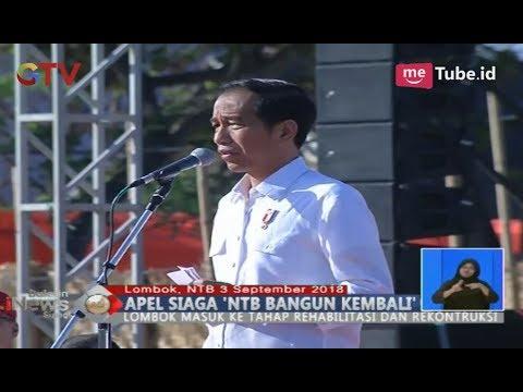Jokowi Pimpin Apel Siaga 'NTB Bangun Kembali' & Tinjau Pembangunan Rumah Tahan Gempa - BIS 03/09