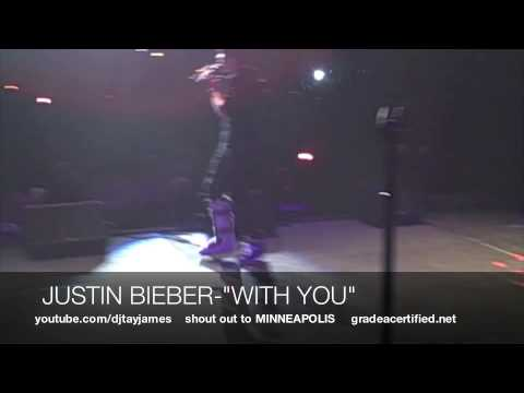 "JUSTIN BIEBER-""WITH YOU"" LIVE IN MINNEAPOLIS"