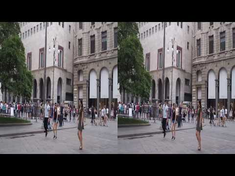 Milan Cathedral, La Scala, Sforza Castle and others in 3D SBS video.