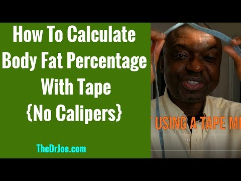 How To Measure & Calculate Body Fat Percentage With Tape Measure Navy Formula At Home. No Calipers