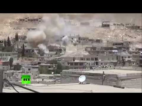 Syrian military release video of heavy fighting with Al-Nusra front near Damascus