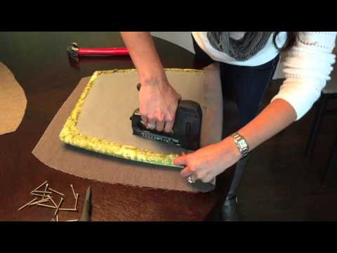 DIY How to Reupholster Dining Room Chairs