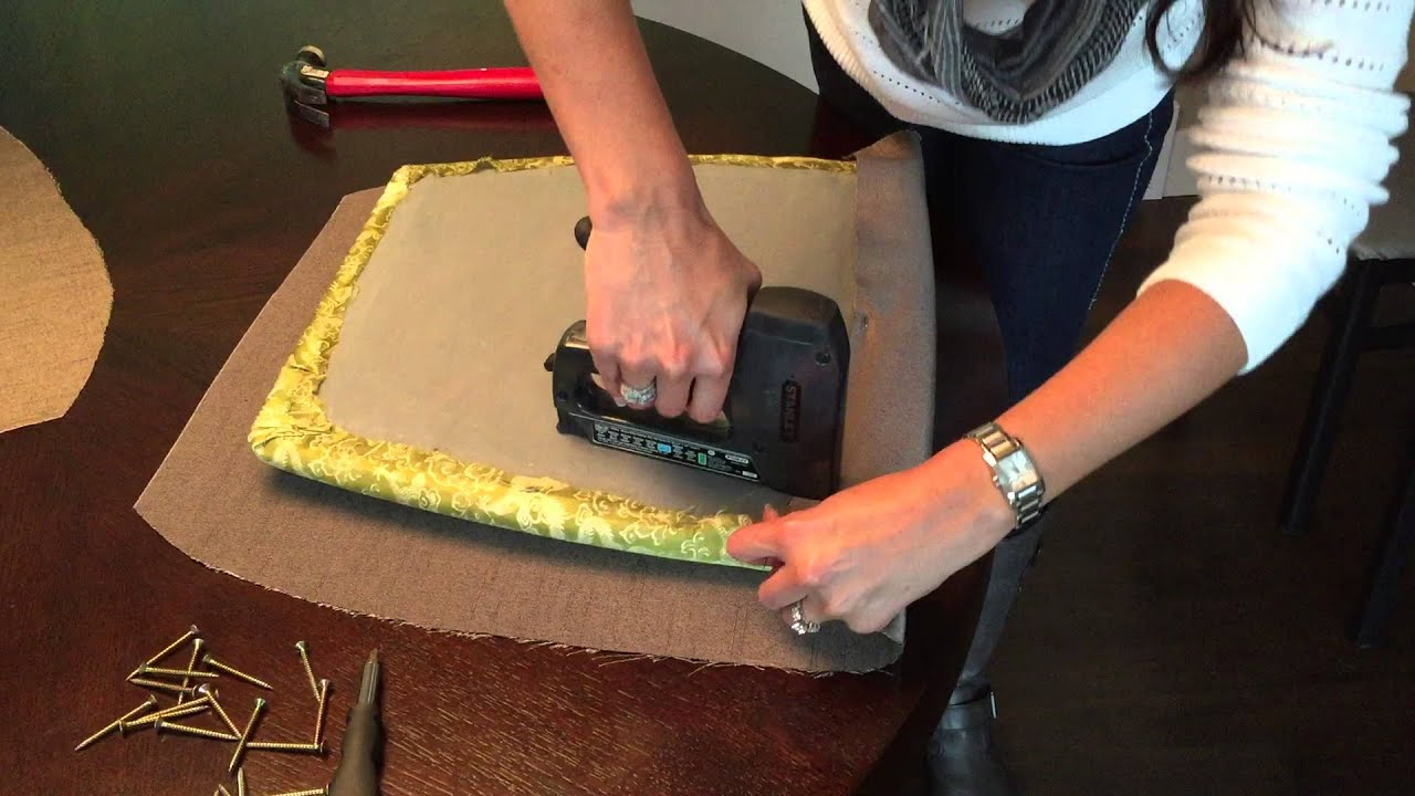 Diy How To Reupholster Dining Room Chairs Youtube