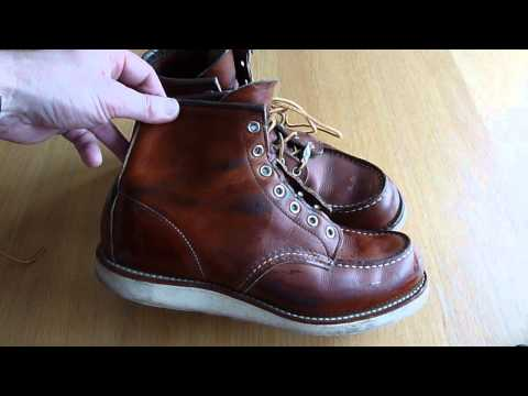 RED WING SHOES 875 Boots - Cleaning /  All Natural Boot Oil