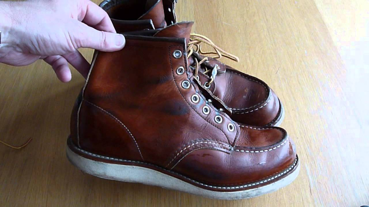 RED WING SHOES 875 Boots - Cleaning / All Natural Boot Oil - YouTube