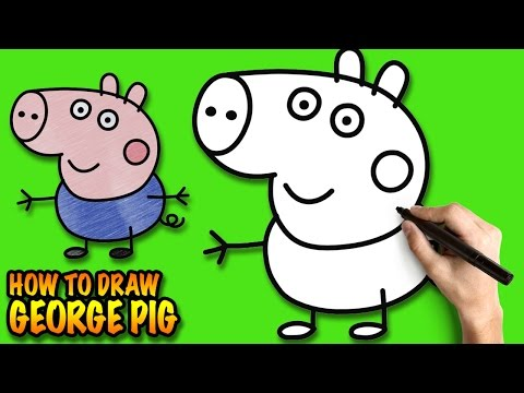 thumbnail how to draw george pig peppa pig easy step by - Easy Kid Drawing