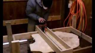 Making A Stump Coffee Table