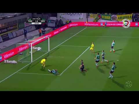 Golo de Miguel Cardoso: Tondela (1)-0 Sporting (Liga 23ªJ)