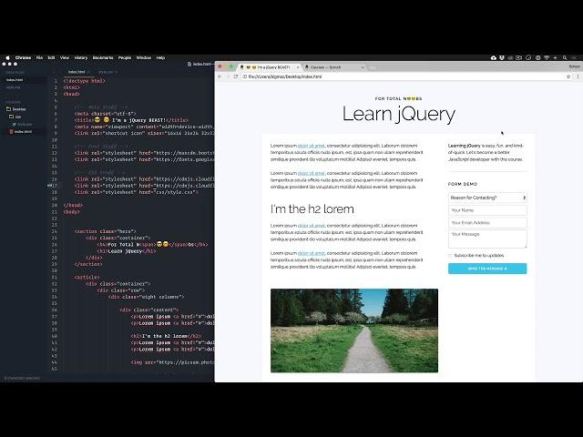jQuery for Total Noobs Vol. 1: #5 Crash Course Intro