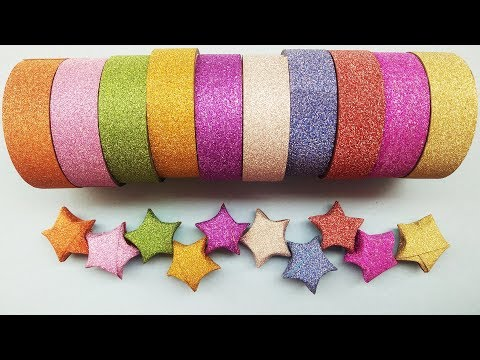 DIY ORIGAMI GLOWING LUCKY STARS - MAKE ORIGAMI LUCKY STARS ⭐️⭐️⭐️