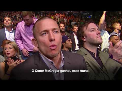 Reações e comentários de GSP durante McGregor x Diaz 1