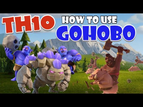Learn How To Use TH10 GOHOBO - TH10 Hogs - Best TH10 War Attack Strategies In Clash Of Clans