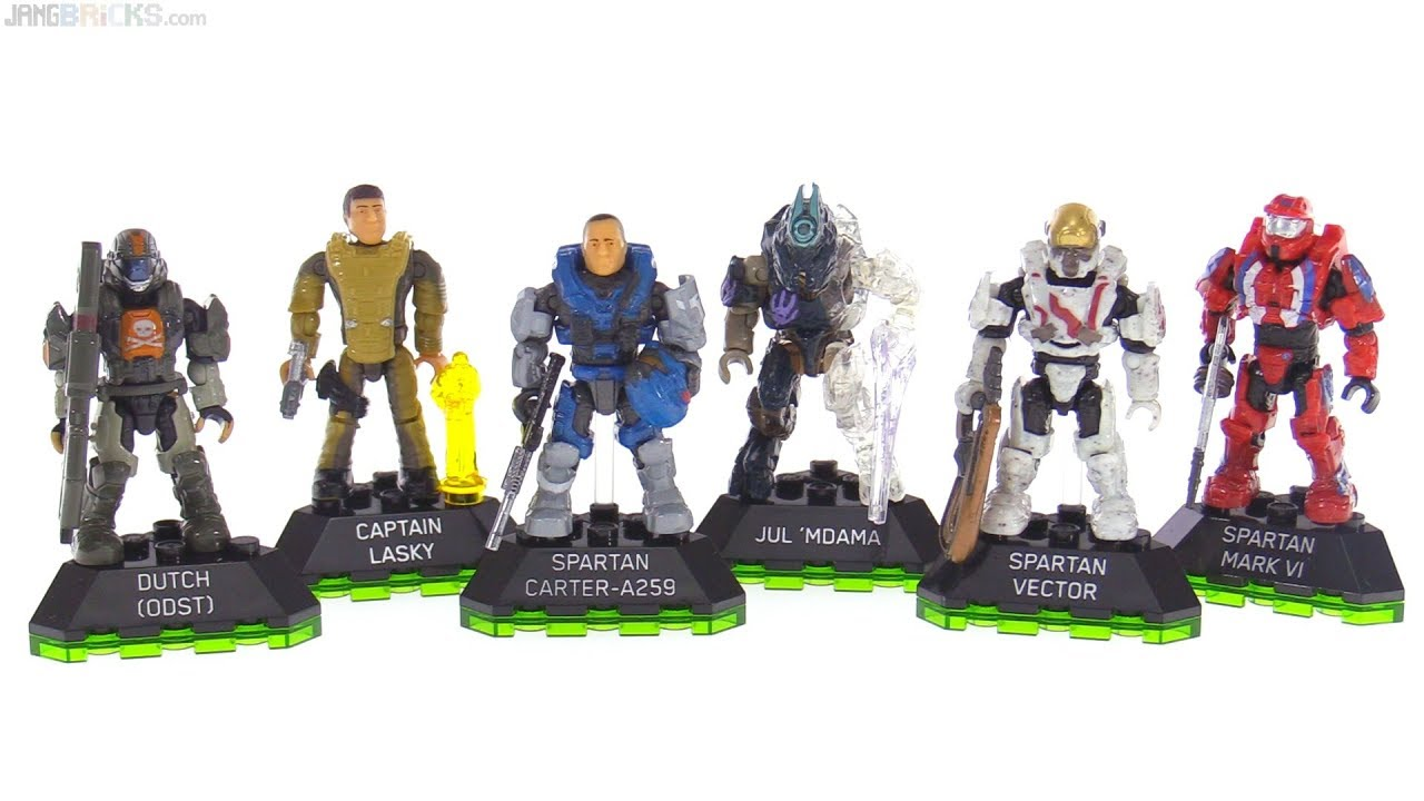 Mega Construx Halo Heroes Series 7 review -- Carter, Jul 'Mdama, Lasky,  Vector, Dutch, Mk  VI Gen1