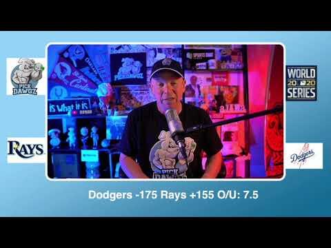 Los Angeles Dodgers vs Tampa Bay Rays Free Pick 10/20/20 World Series Game 1 Pick & Prediction MLB
