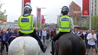 Fans doing battle at Wembley - special report on the cost of policing football in London | ITV News