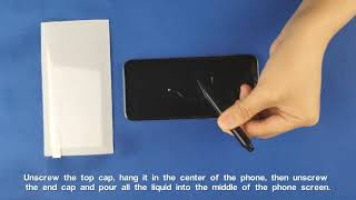 3D Glass Screen Protector Installation Instruction with back film (V151) - 190116