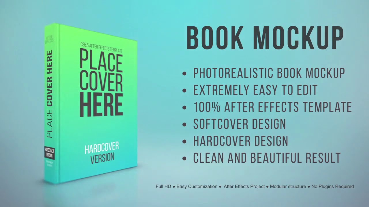 after effects template book mockup youtube